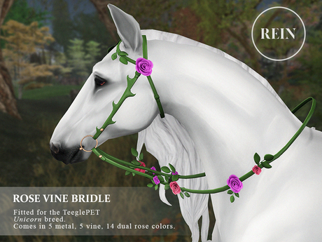 REIN - TeeglePet Rose Vine Bridle UNICORN