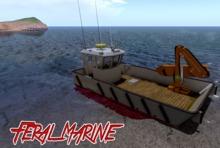 WORKING CRANE! Feral Marine Donkey