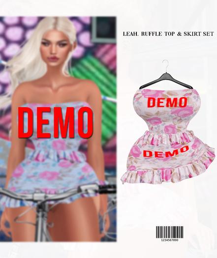 Leah. Ruffle Top & Skirt Set [DEMO] BBL, HG, 9S JESSICA, LARA  ::Kloss::