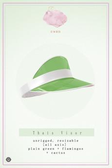 Swan Thais Visor Cap Green