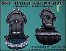 SSM - Italian Wall Fountain