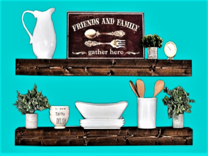 Second Life Marketplace Western Wall Hanging Art Home Decor Kitchen Shelf Friends Family Plant Dishes 3d Look Flat Alpha 1 Prim Copy Mod