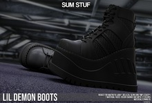 SUM STUF - Lil Demon Boots : BLACK