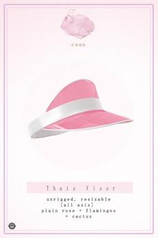 Swan Thais Visor Cap Rose