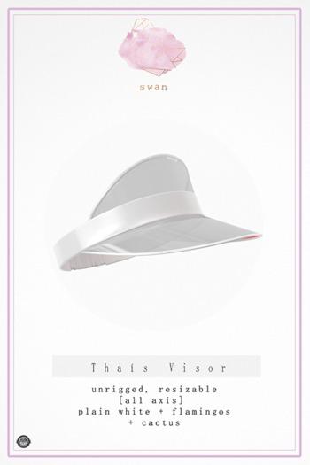 Swan Thais Visor Cap White