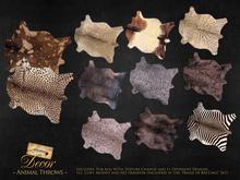 ~Libertine~ Animal throw, fur rug