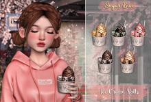.SugarBun. Ice Cream Rolls - STRAWBERRY