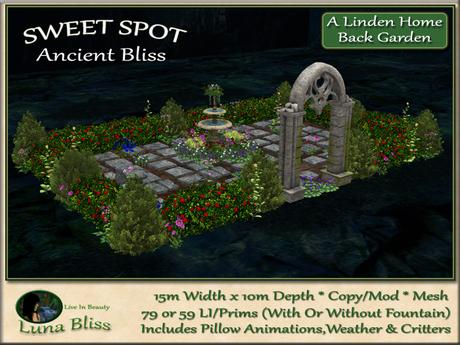 Ancient Bliss SWEET SPOT - Back Garden 1 - Patio Garden Arrangement