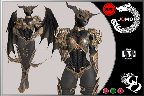 Second Life Marketplace C N Dragon Armor Female Jomo Dark Tiamat Demo V1 The armored dragons trope as used in popular culture. second life marketplace c n dragon
