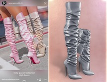 RAMA - Insta Queen High Boots 'Metal Grey'