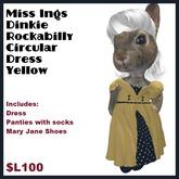 Miss Ing's Dinkie Rockabilly Circular Dress Set Yellow