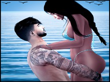 Jess Poses Beach Couple 1 *