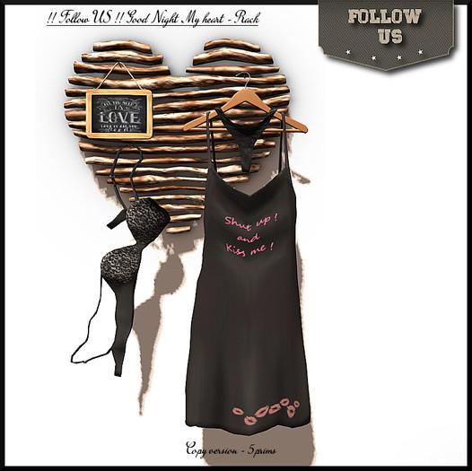 !! Follow US !! Good Night my Heart rack COPY version