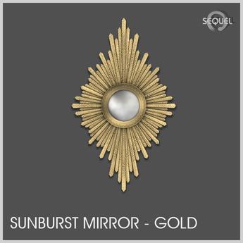 Sequel - Sunburst Mirror - Gold