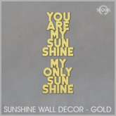 Sequel - Sunshine Wall Decor - Gold