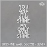 Sequel - Sunshine Wall Decor - Silver