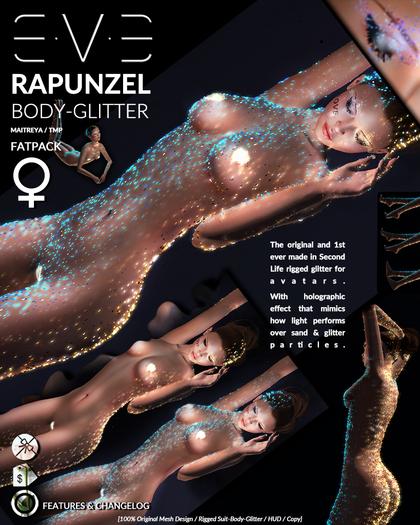 E.V.E Rapunzel BodyGlitter [FEMALE - FATPACK v.2.1]
