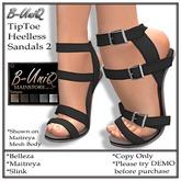 B-UniQ Womens -  TipToe Heelless Sandals2