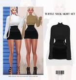 SK. Turtle Neck Skirt Set [BLACK] ::Kloss::