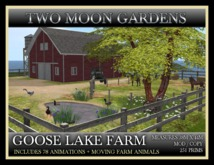 TMG - GOOSE LAKE FARM* Landscaped Barnyard, ranch with moving animals