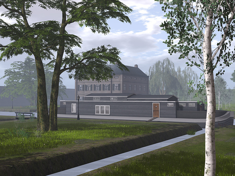 Dutchie Mesh Houseboat New Amsterdam Furnished with Mid-century Modern Design Mesh Furniture