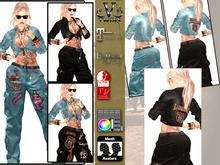 V-Twins- Biker Clothes - Sharp Biker Version **MESH Outfit [Mesh Bodies Compatible] Maitreya Belleza & Slink