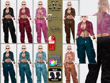 V-Twins- Casual Clothes - Sharp Color Version **MESH Outfit [Mesh Bodies Compatible] Maitreya Belleza & Slink
