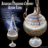 Arabian Hanging Censer/Lamp - Azure LIons