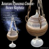 Arabian Hanging Censer/Lamp - Secret Keyhole