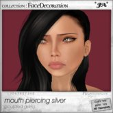 *JA* mouth piercing silver (boxed)