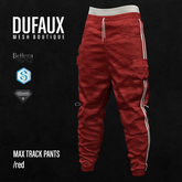 DUFAUX - max trackpants - red