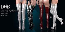 [DHB] Latex Thigh High Boots - 1088-BOX