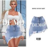 Ripped Denim Skirt [DEMO] ::Kloss::