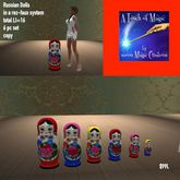 Russian Doll rezzer 6 pc set -Bag