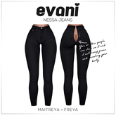 evani. Nessa  zip.jeans / black /