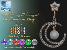 "{Fantasy world} Belly piercing - ""Moonlight"" Maitreya"