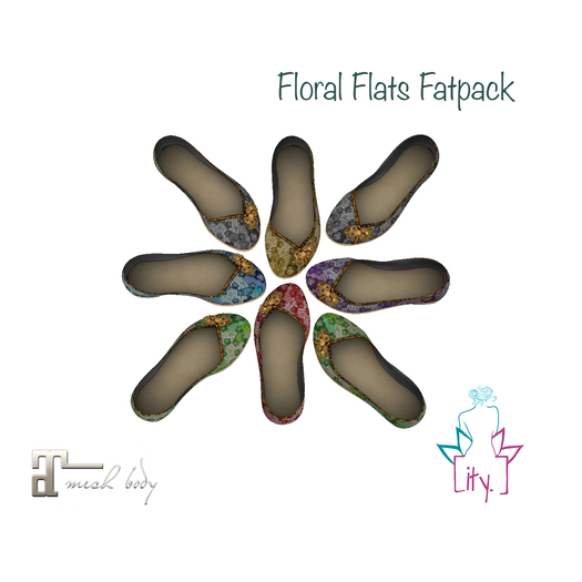 [ity.] China Floral Flats Fatpack
