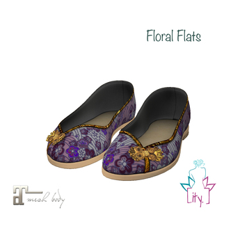 [ity.] China Floral Flats Purple