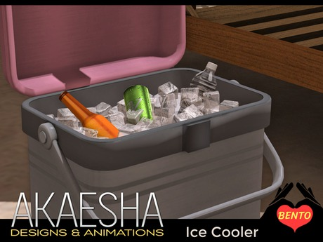 Bento Ice Cooler with Drink Props, Lid Animation and Bento