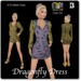 Blackburns Dragonfly Dress 13 Sizes Colorable