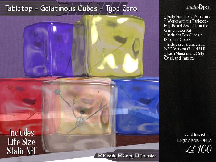 /studioDire/ Tabletop - Gelatinous Cubes - Type Zero