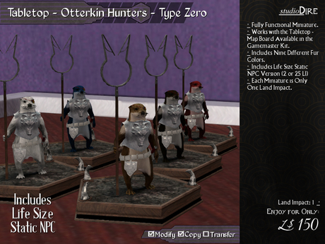/studioDire/ Tabletop - Otterkin Hunters - Type Zero