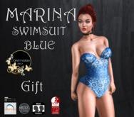Continuum Marina Bodysuit blue
