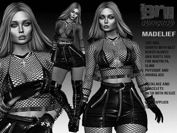**DEMO** MADELIEF BIKER STYLE COMPLET OUTFIT** (WEAR)