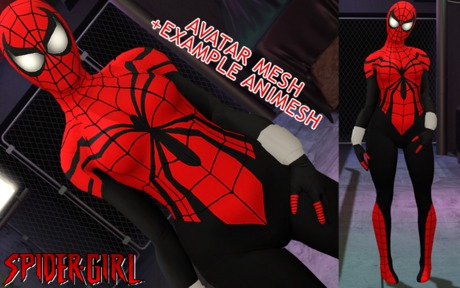 AVATAR MESH SPIDER GIRL / ANIMESH EXAMPLE
