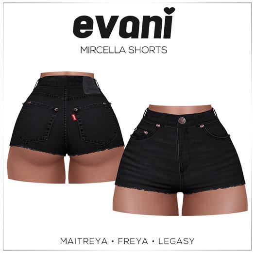 evani. Mircella vintage shorts - black -