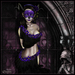 [Wishbox] Aphrodisia (Blackbird Pie): Grecian Goddess Toga - Belly Dance Silks - Gothic Medieval Fantasy Set