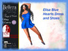 *TA* Elisa Blue Hearts DRESS and Shoes