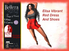*TA* Elisa Vibrant Red Dress and Shoes
