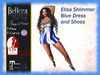 *TA* Elisa Shimmer Blue Dress and Shoes